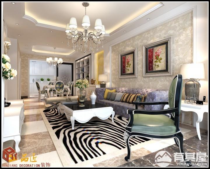 三居室家装简欧风格设计效果图案例欣赏