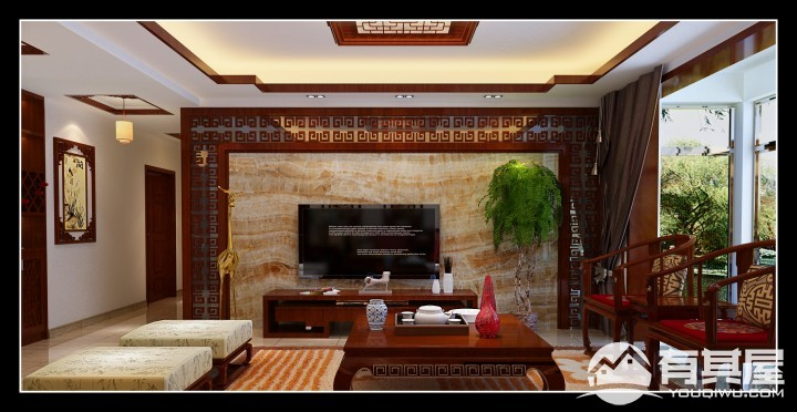 三室两厅中式风格设计效果图欣赏