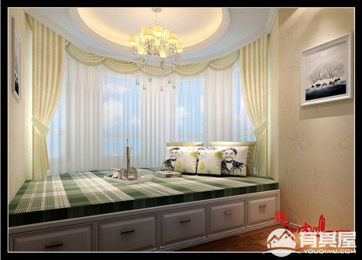 四室两厅简欧风格效果图案例欣赏
