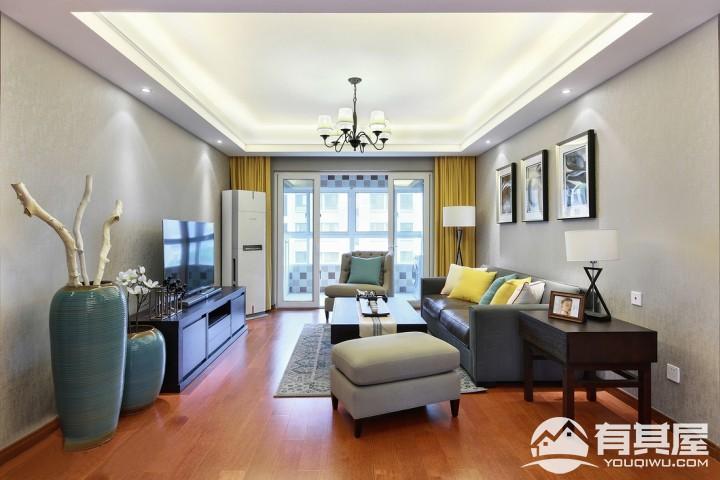 星河国际三居室家装现代风格设计效果图
