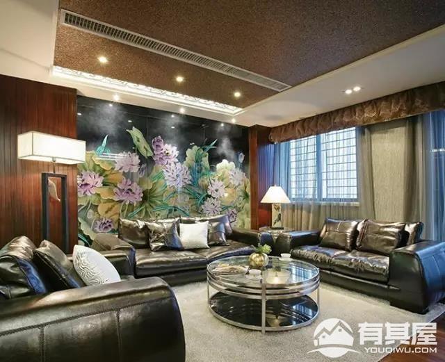 四室两厅家装新中式装修设计效果图案例欣赏