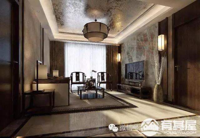 三室两厅家装新中式装修设计效果图