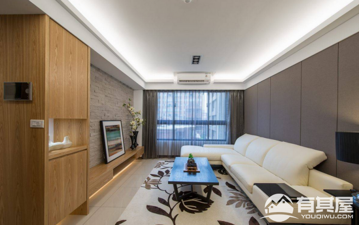 新力愉景湾120平三室两厅现代简约效果图