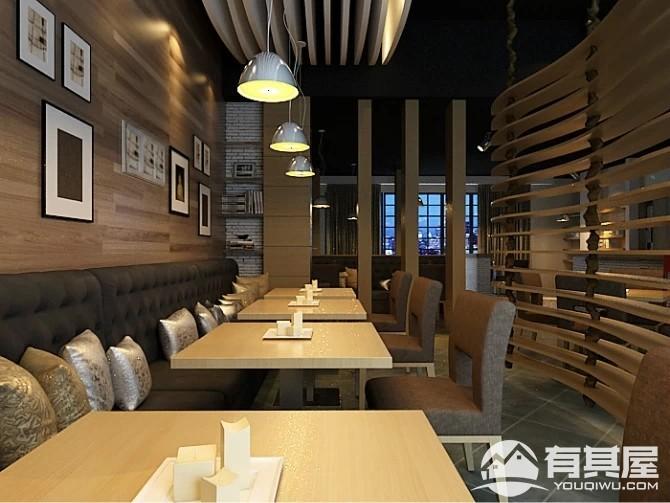 东莞咖啡厅280平装修设计效果图案例欣赏