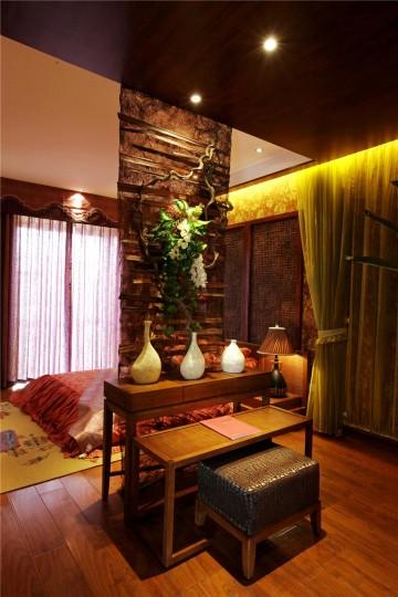 君华御府三室两厅东南亚风格装饰效果图