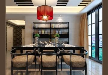 东坪山花园三室两厅东南亚风格设计效果图欣赏
