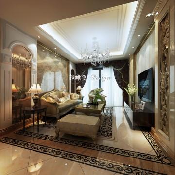禾丰新景复式豪华欧式风格设计效果图欣赏