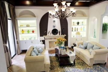 银唐国际120平三室两厅地中海风格设计效果图欣赏