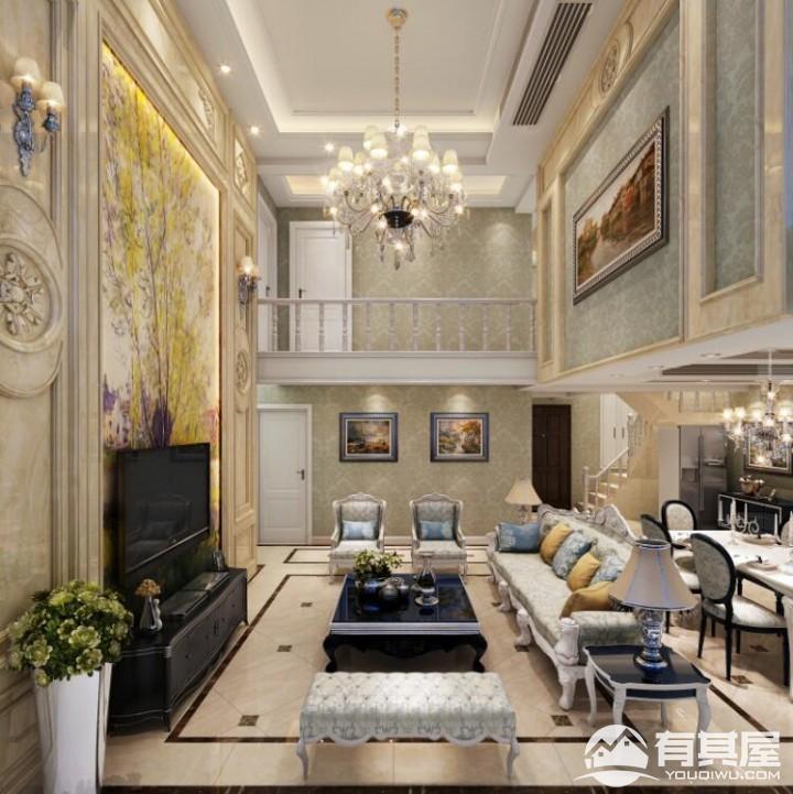 南山柠檬城豪华别墅欧式装修设计效果图案例欣赏