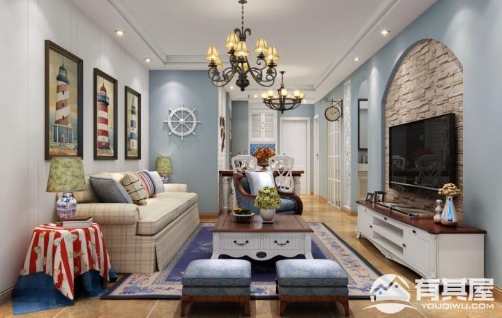 金品领秀三室两厅地中海装修设计效果图欣赏