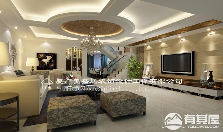 别墅现代田园混搭风格设计效果图欣赏