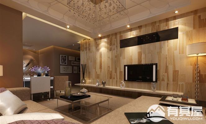 旭辉玺悦三室两厅装修设计效果图案例欣赏