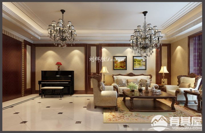 四室两厅新中式风格设计效果图欣赏