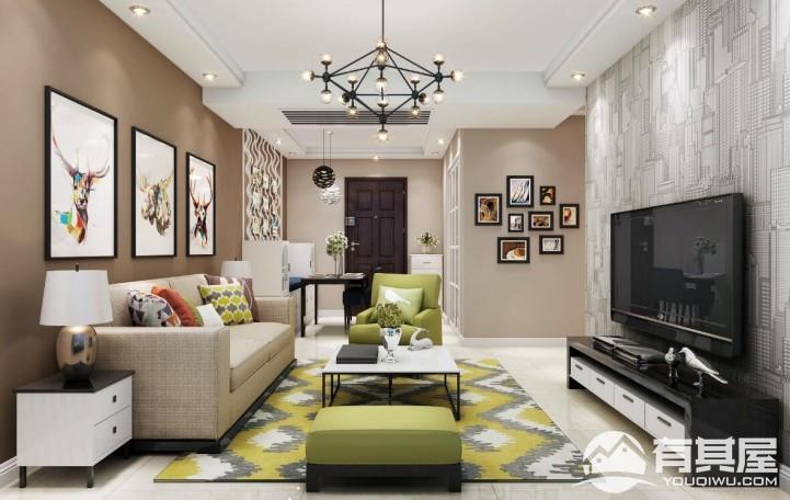 依云华苑两居室小户型现代风格设计效果图欣赏