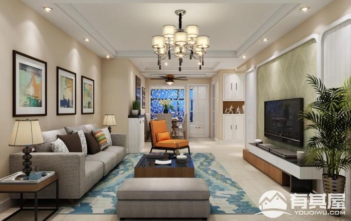 锦苑西湖两居室小户型现代简约风格设计效果图