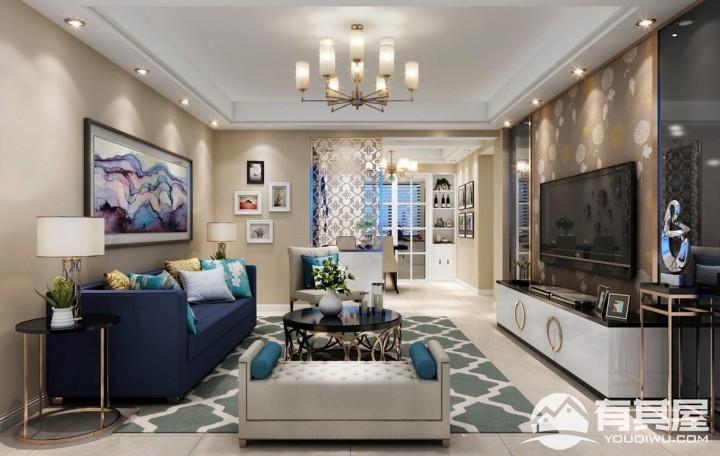 苹果乐园两居室现代风格设计效果图
