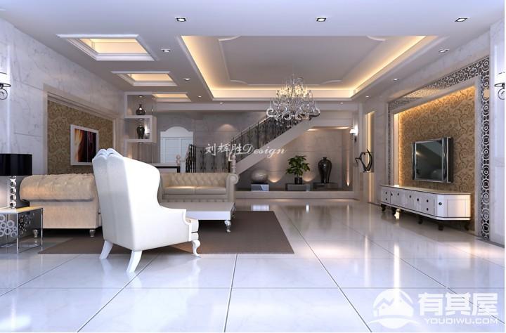 半岛祥湾三室两厅现代简约风格设计效果图案例欣赏