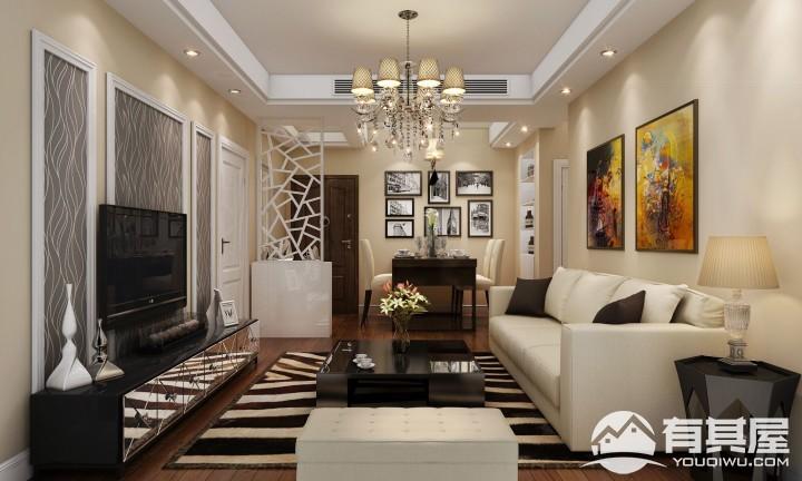 永新大成郡两居室小户型家装现代装修设计效果图