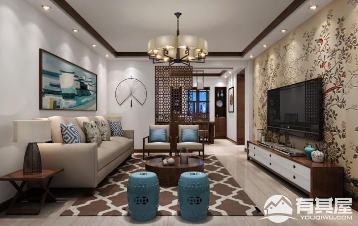 红树湾三室两厅家装现代装修设计效果图