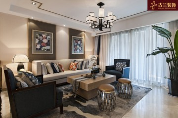 水月秦淮三居室家装中式风格设计效果图欣赏