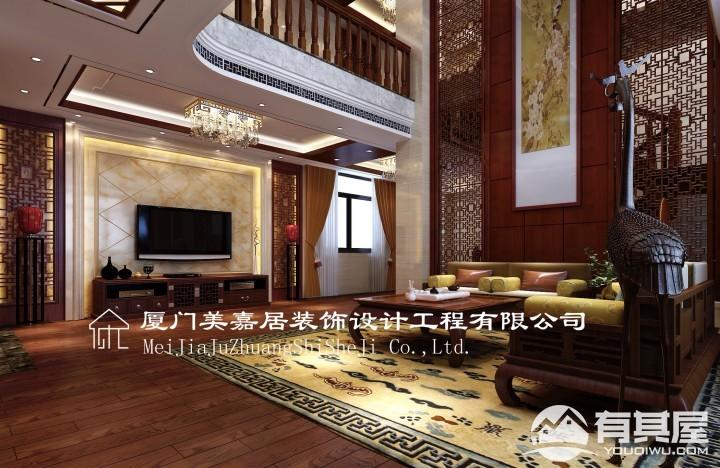 复式楼层中式风格设计效果图欣赏