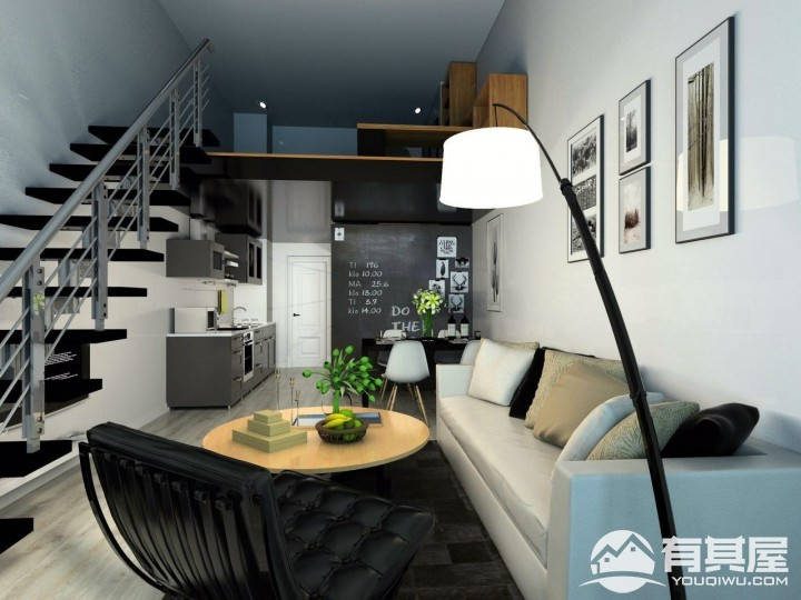 尚上名筑三房两厅简欧装修设计效果图