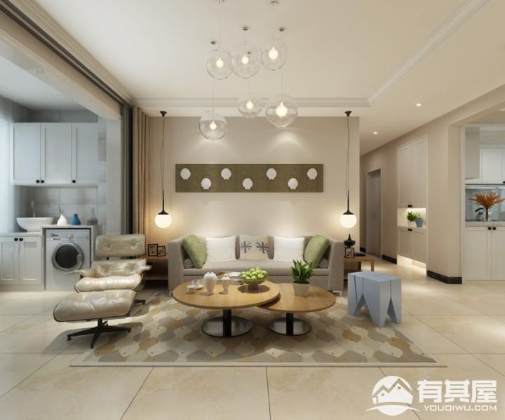 三室两厅家装北欧风格设计效果图案例欣赏