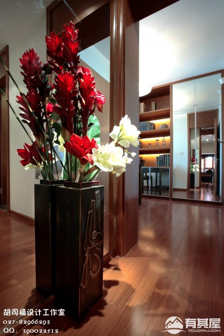 美奇青年汇三室两厅东南亚装修设计效果图案例欣赏
