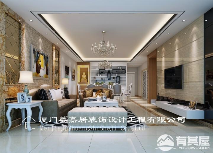 慧景城三室两厅现代风格设计效果图欣赏