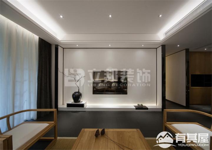 新景国际外滩两居室小户型新中式风格设计效果图欣赏