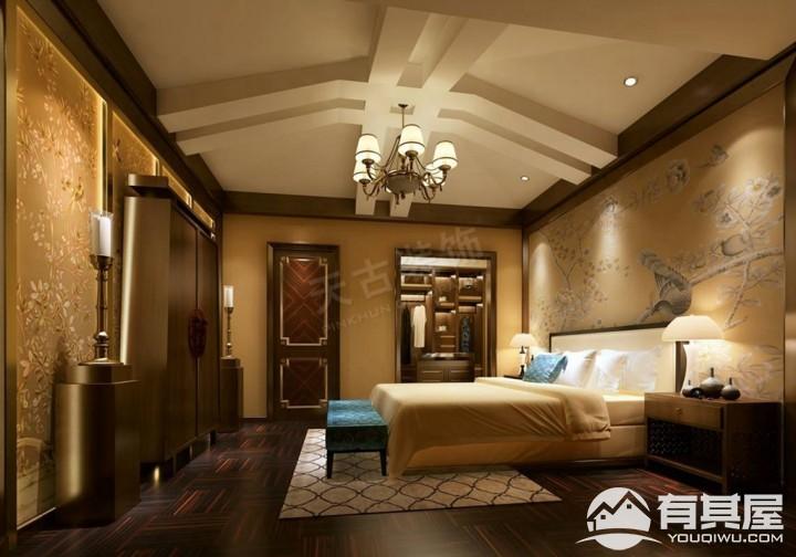 高屋林语堂联排别墅新中式风格设计效果图欣赏