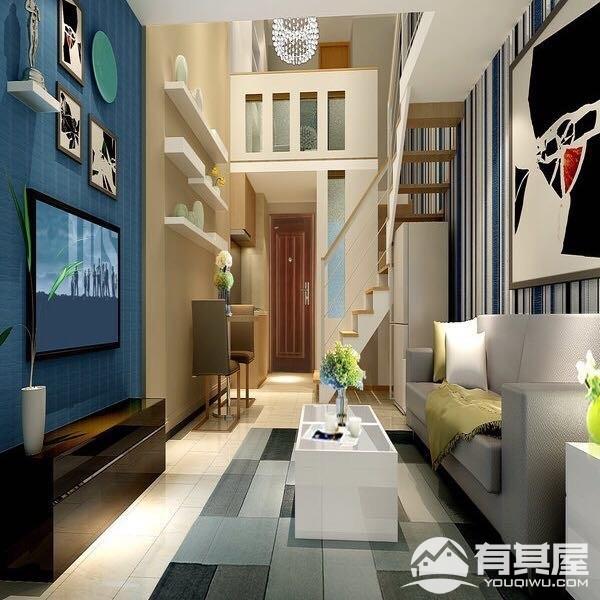 君华御府两居室小户型现代简约装修效果图