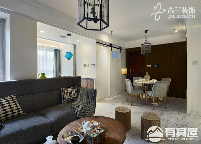 金盛田铂宫三室两厅现代简约风格设计效果图欣赏