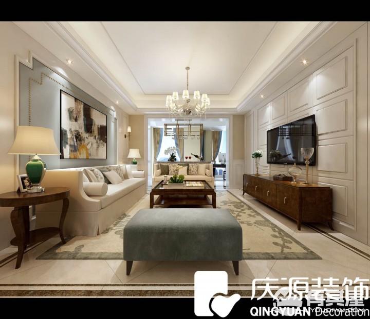 中梁·公园天下三室两厅现代风格设计效果图案例赏析