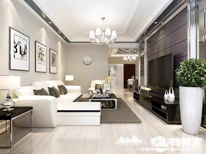 金利蓝湾三居室现代简约风格设计效果图欣赏