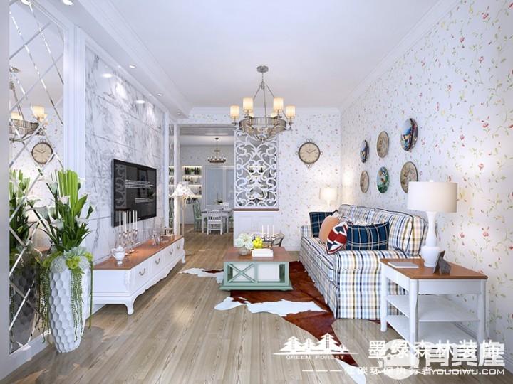 两居室雅居美式风格设计效果图欣赏