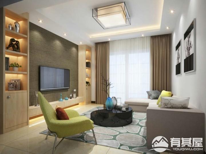 银溪春墅两居室现代简约装修设计效果图
