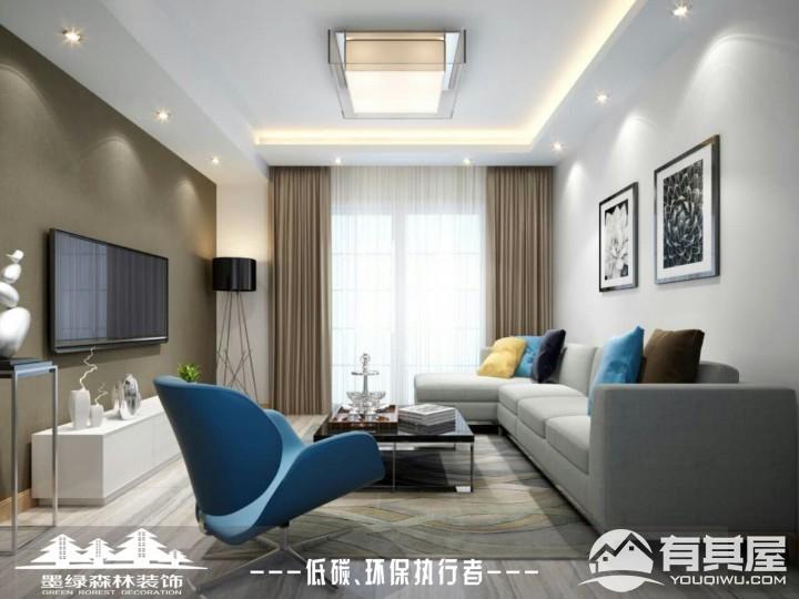 银溪春墅两居室小户型现代简约风格设计效果图欣赏