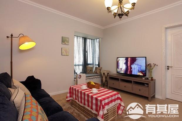 两居室小户型美式现代风格装修设计效果图