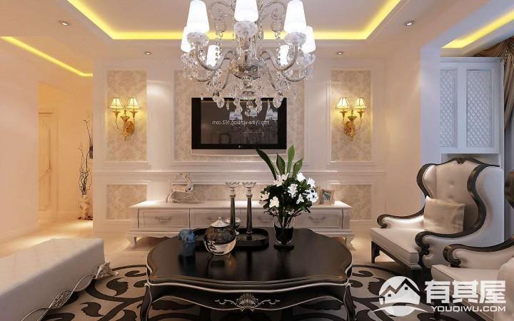 潮白家园三室两厅欧式风格设计效果图欣赏