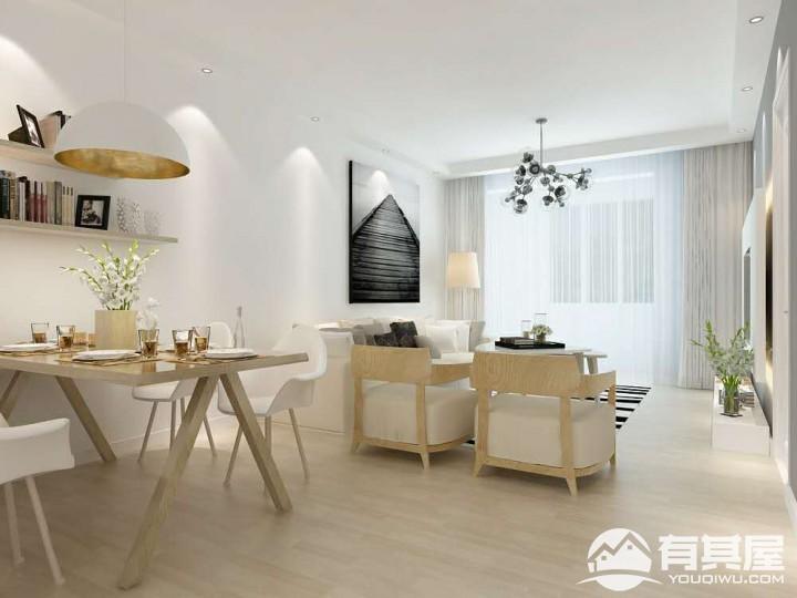 两居室小户型北欧装修设计效果图欣赏