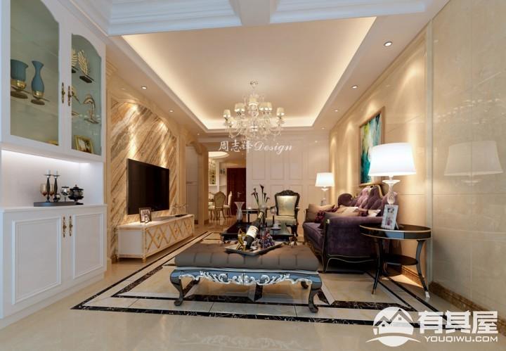 湖滨首府三室两厅现代简约风格设计效果图案例欣赏