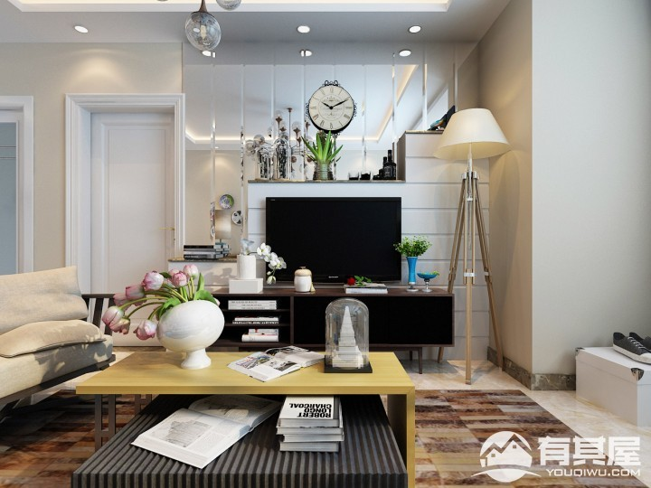 两居室小户型现代简约装修设计效果图欣赏