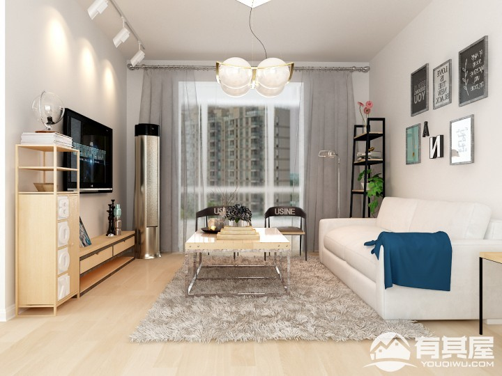 两居室北欧风格效果图案例欣赏