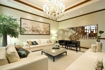 三室两厅中式装修设计效果图案例欣赏