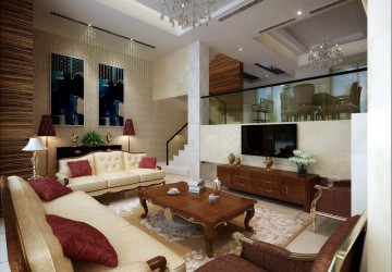 欧式风格客厅装修效果图2
