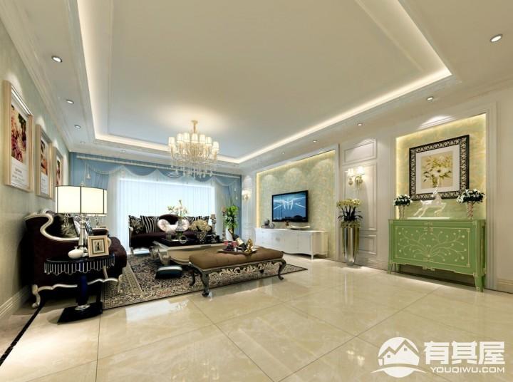 辉煌家园简欧风格三居室装修效果图