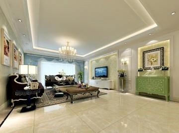 辉煌家园简欧风格三居室装修效果图2