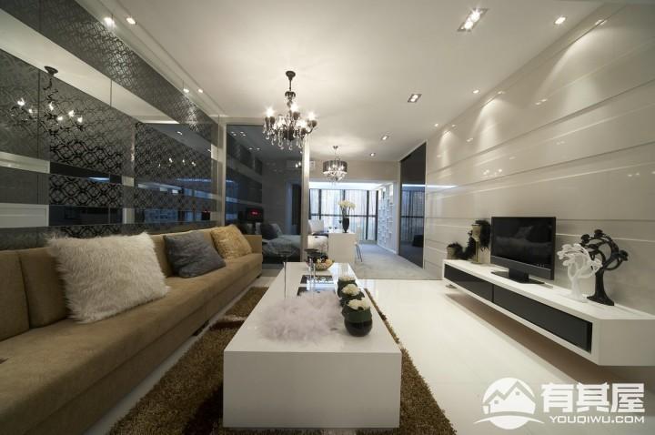 阅城国际三居室现代装修设计图