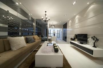 阅城国际三居室现代装修设计图5